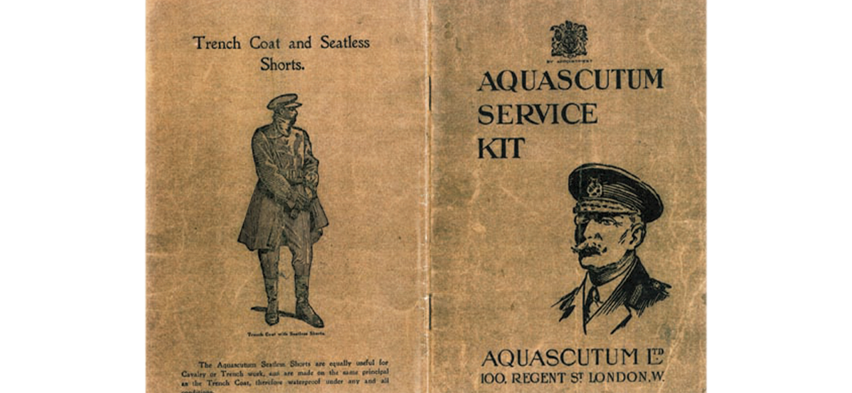 Aquascutumトレンチコート
