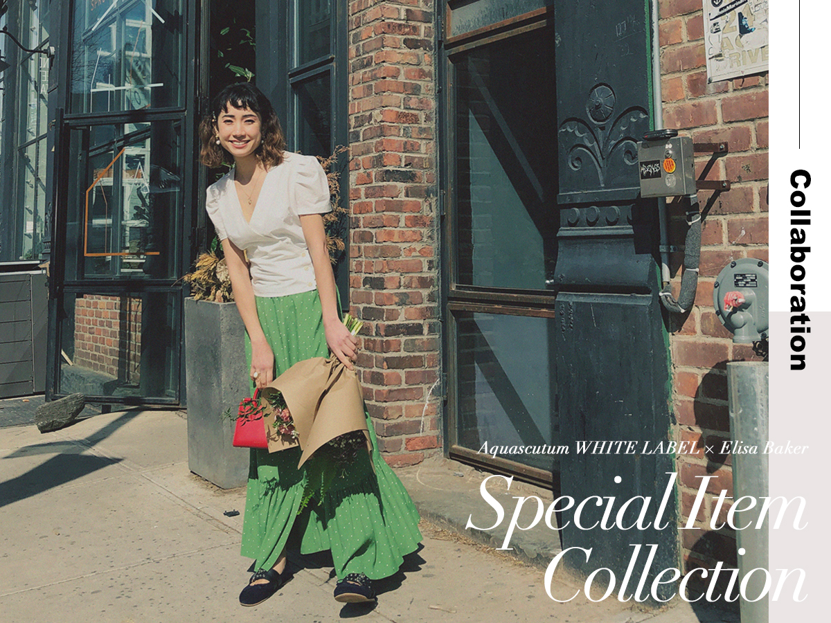 AQUASCUTUM WHITE LABEL × ELISA BAKER SPECIAL ITEM COLLECTION VOL.2